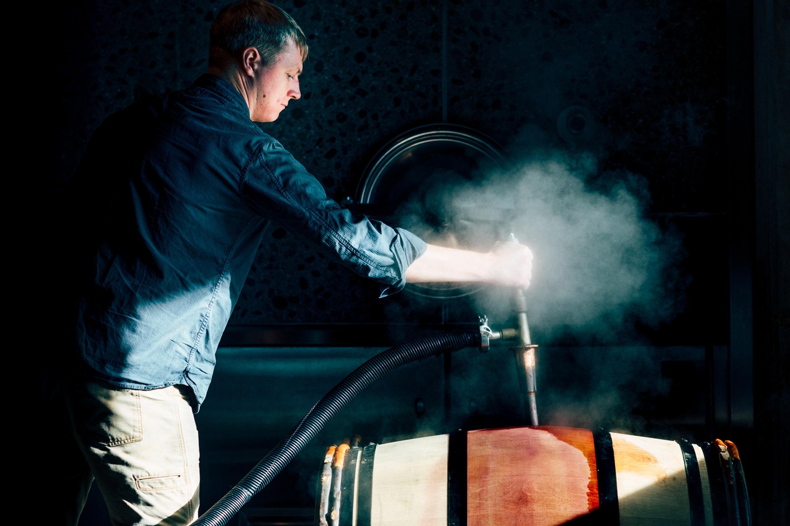 Austin Peterson steaming a barrel