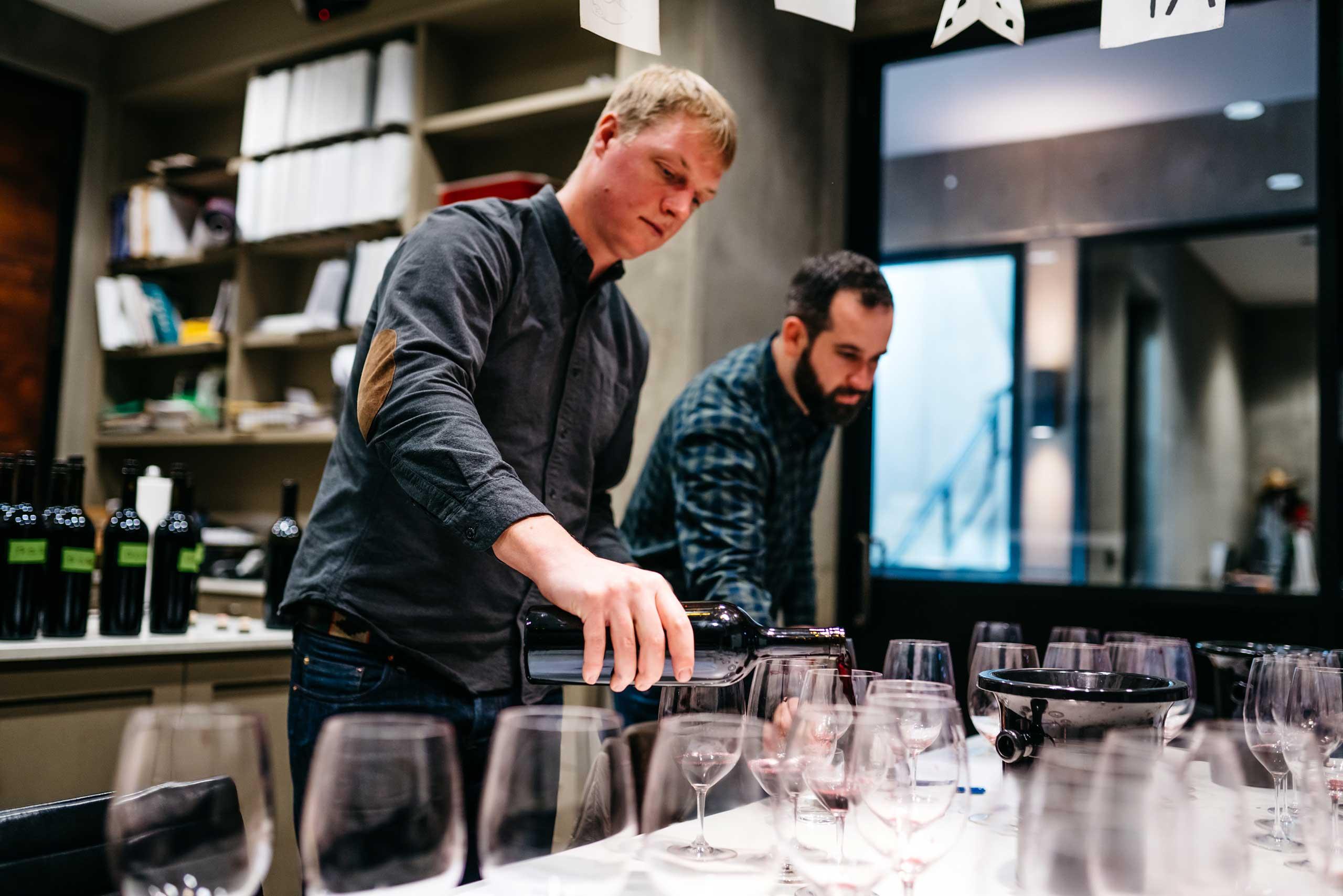 OVID winemaker Austin Peterson