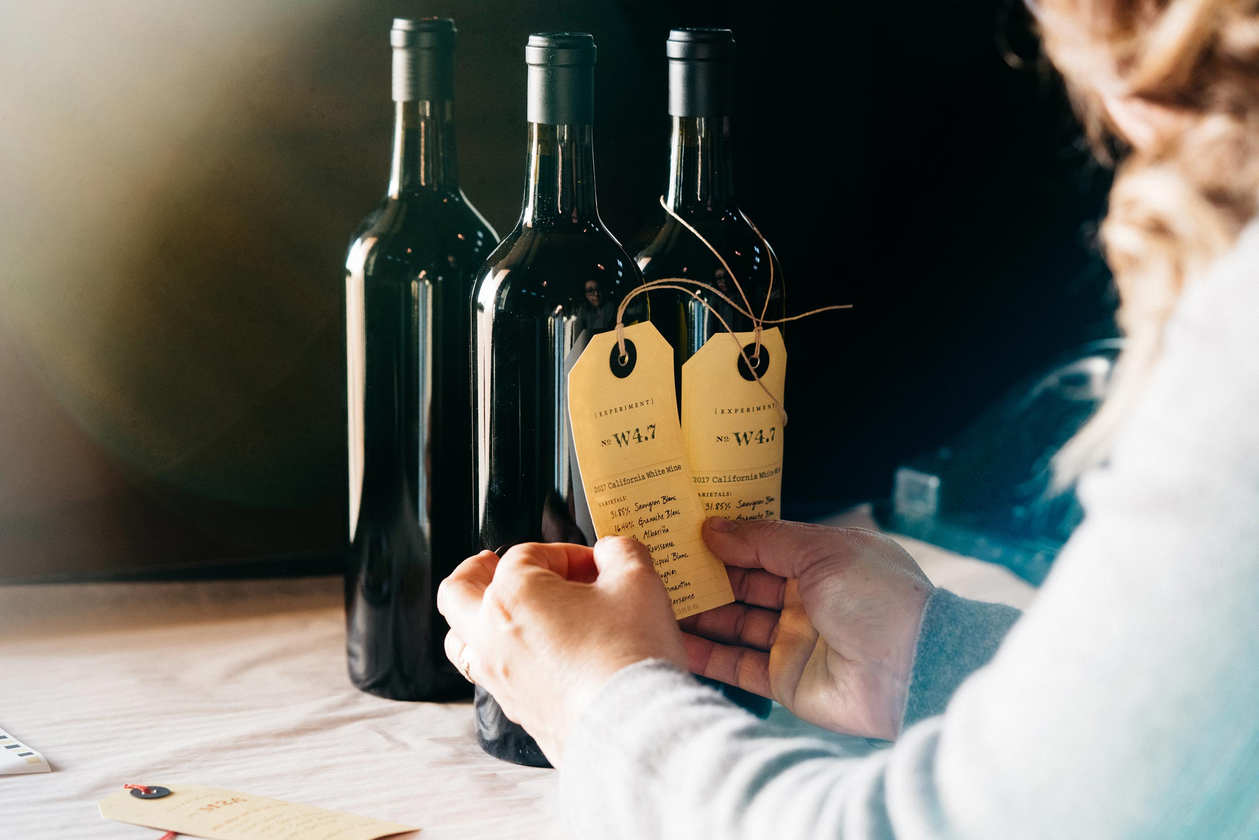 Labeling Epxeriment wines