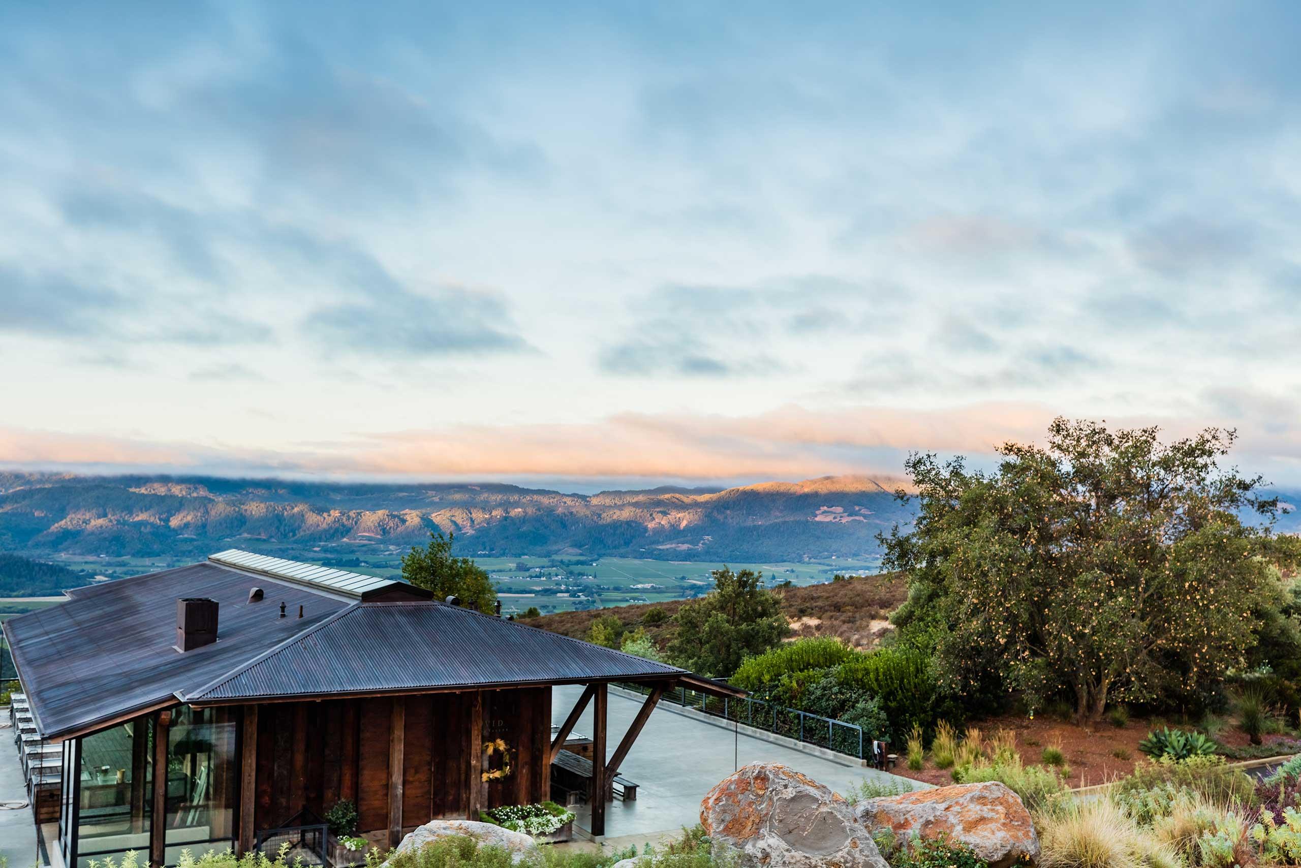 Exterior of OVID Napa Valley winery