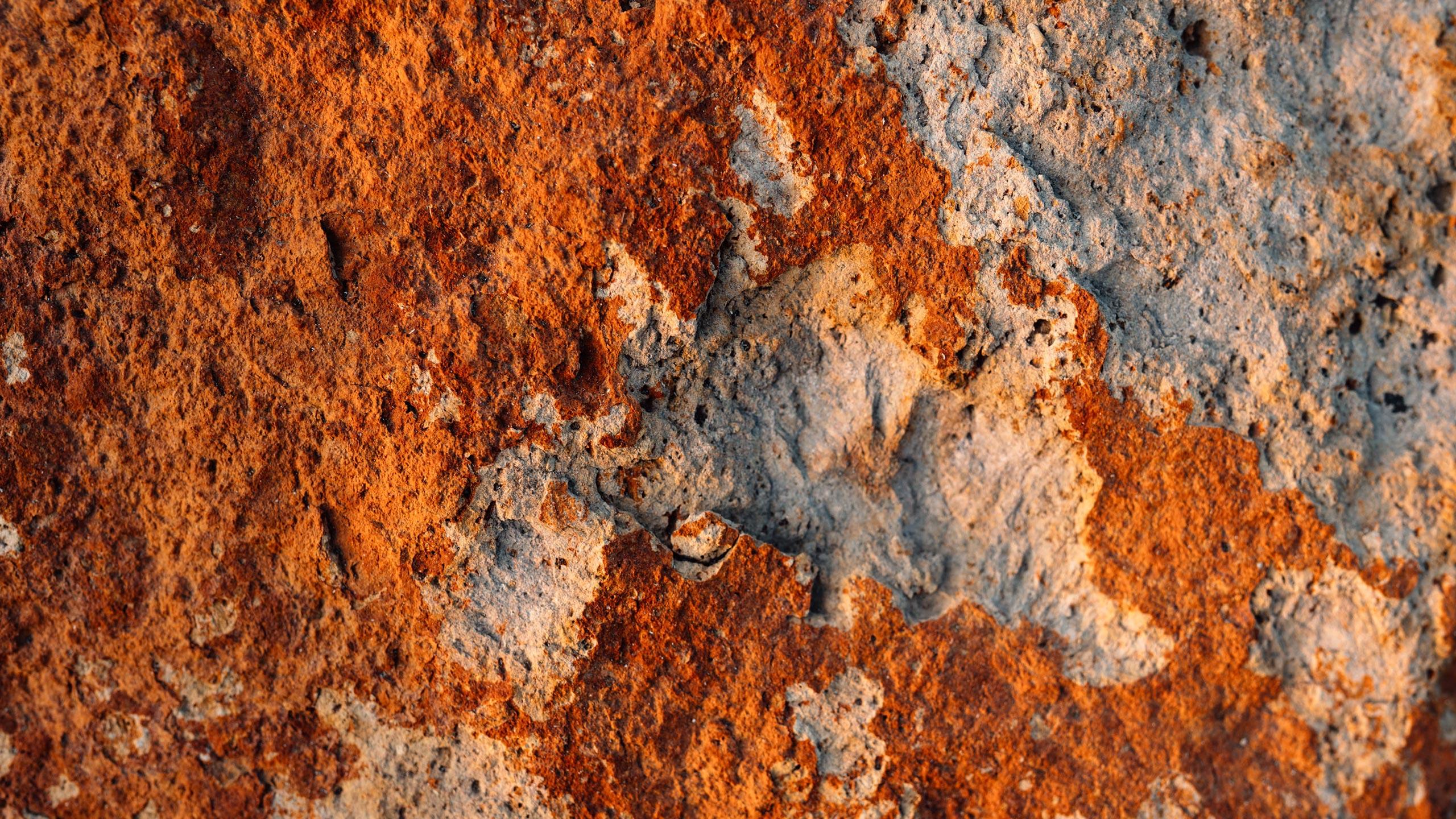 Closeup of volcanic rock