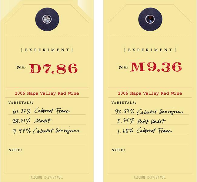 Experiment 2006 D7.86 & 9.36 wine labels