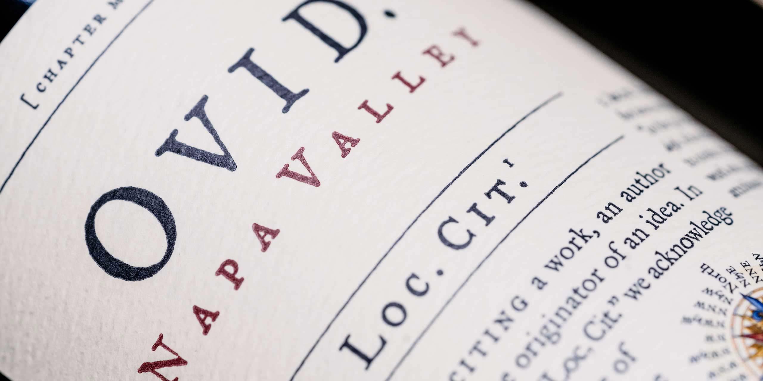 OVID Loc. Cit. wine label