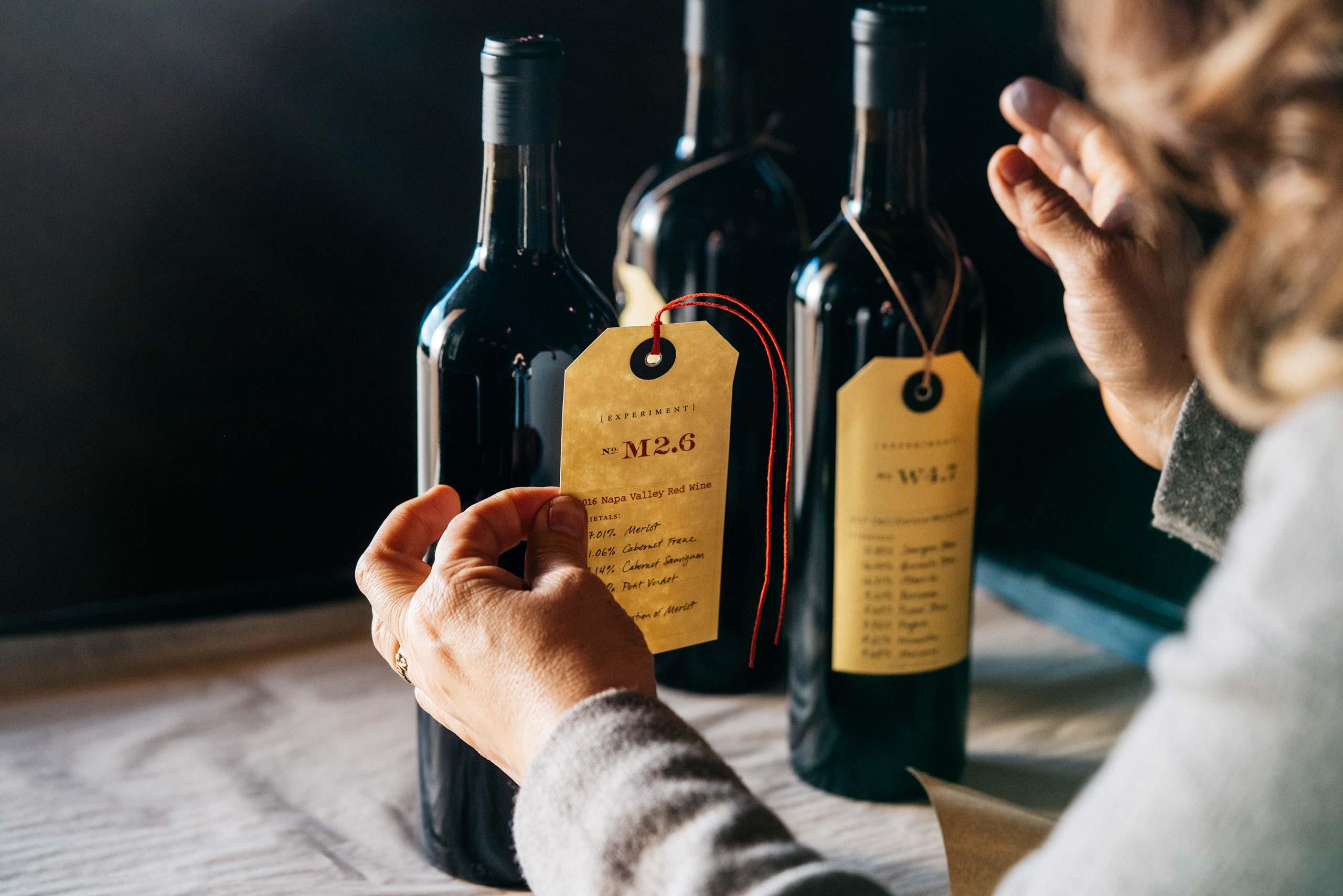 Labeling Experiment bottles