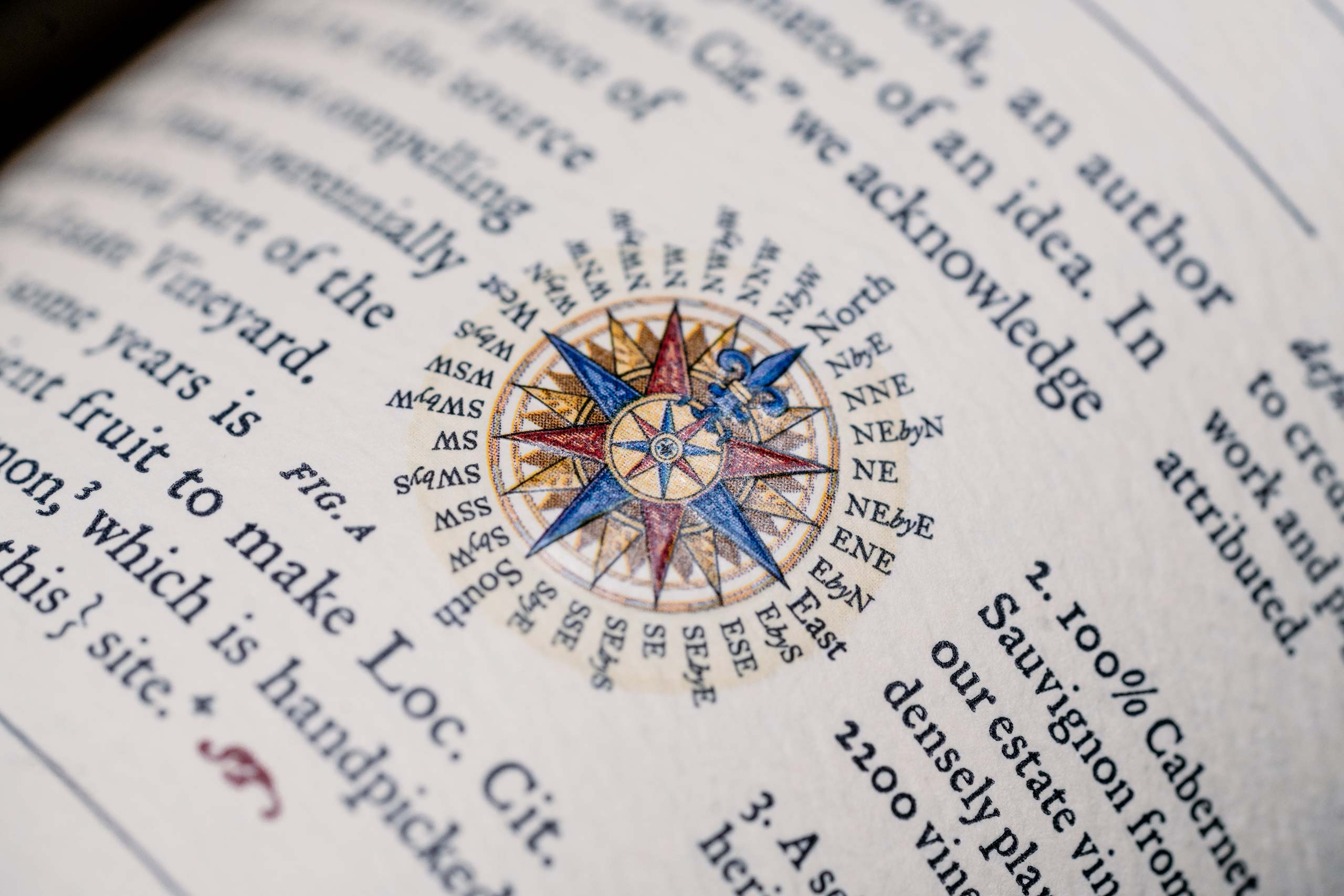 Loc. Cit. compass closeup