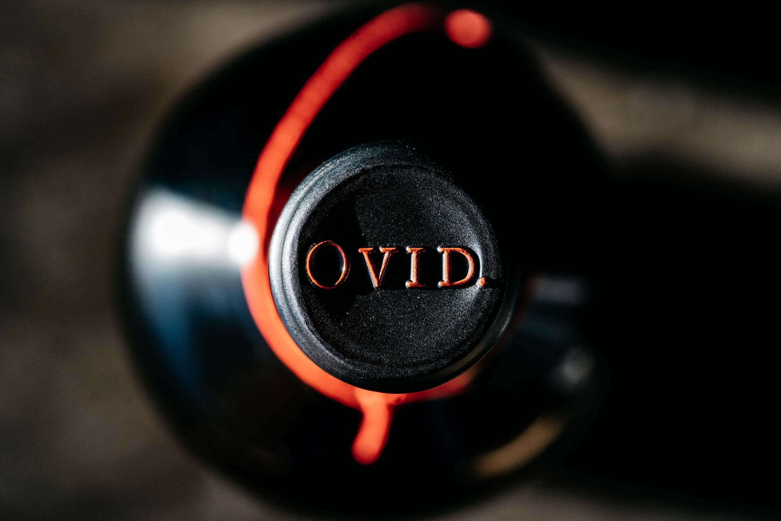OVID wine capsule closeup
