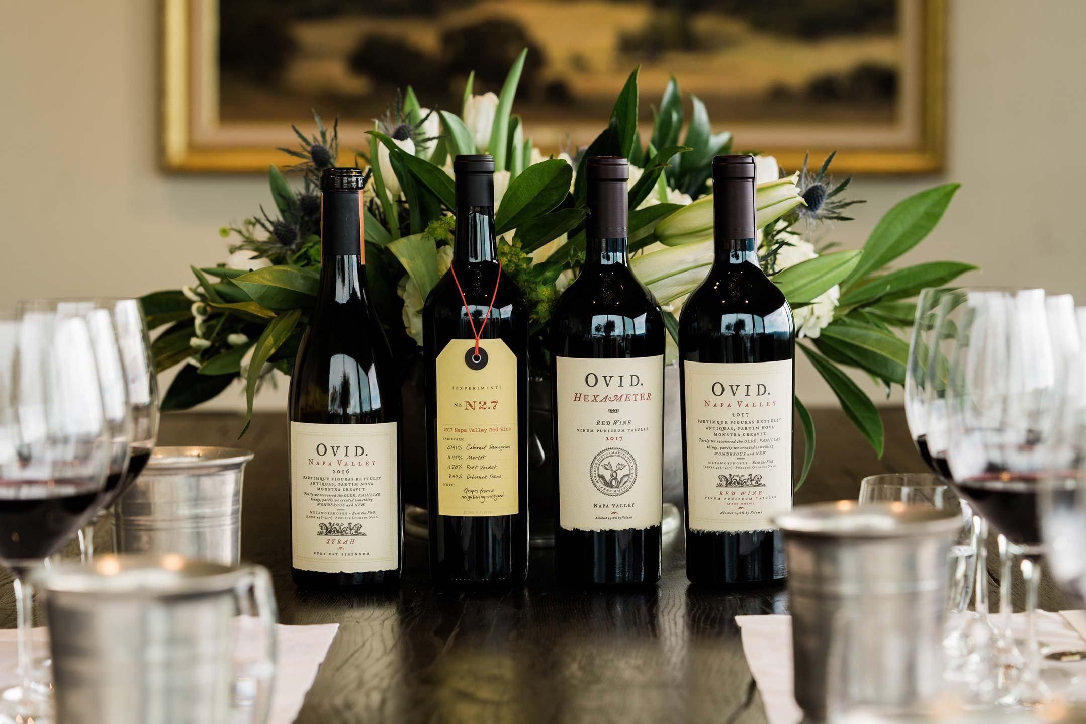 OVID wine tasting